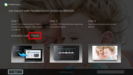 PlayMemories Online (BRAVIA) HELP | Preparation